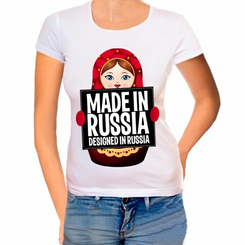 Футболка женская Made in Russia
