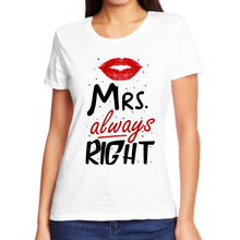 Парная футболка для пар mrs.always right