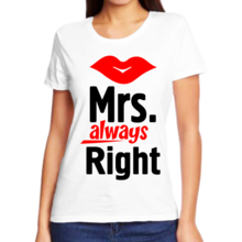 Футболка mrs. Always right