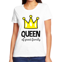 Футболка queen af great family