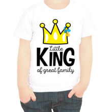 Футболка little king af great family