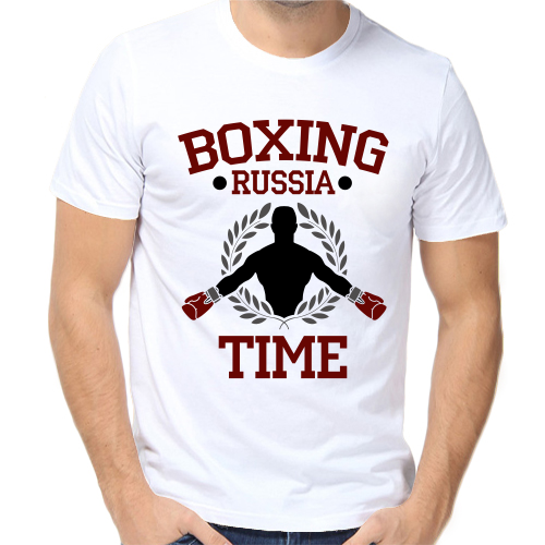 Футболка boxing russia time купить по цене — 690 р