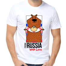 Футболки с надписью Russia From Russia with love арт 6426